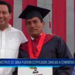 Trujillo: 80 maestros de obra fueron certificados gracias a cementos Pacasmayo