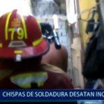Piura: Chispas de soldadura desatan incendio
