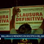 Chimbote: Hallan a 12 menores en discoteca del malecón
