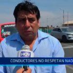 Trujillo: Conductores no respetan nada en sector Miramar de Moche