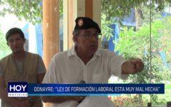 """Chiclayo: Donayre: """"Ley de formación laboral está muy mal hecha"""""""