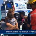 México: Explosión de ferri deja 18 heridos