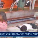 Piura: Niños son explotados por su propio padre