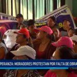 Trujillo: Moradores protestan por falta de obras en AA.HH