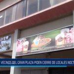 Chiclayo: Vecinos de gran plaza piden cierre de locales nocturnos