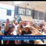 Chiclayo: Trabajadores protestan en local de alcalde de JLO