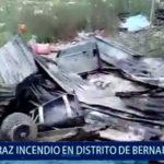 Piura: Incendio consume dos viviendas en Bernal