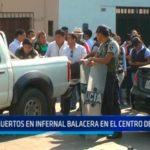Dos muertos en infernal balacera en el centro de Trujillo
