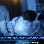Piura: Joven roba una mochila en discoteca