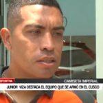 Junior  Viza destaca el equipo que se armó en el Cusco