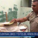 Chiclayo: Encuentran libros y textos del MINEDU en una cochera