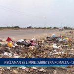 Chiclayo: Reclaman que se limpie carretera Pomalca – Chiclayo