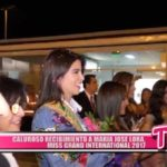Nacional: Así fue la llegada de María José Lora, Miss Grand International 2017
