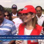Chiclayo: Premier Araos inspecciona obras en región Lambayeque