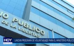 Lanzan programa de voluntariado para el Ministerio Público