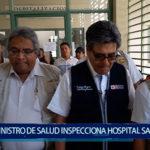Piura: Ministro de Salud inspecciona hospital Santa Rosa