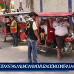 Piura: Mototaxisas  anuncian movilización