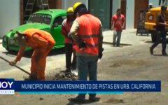 Municipio inicia mantenimiento de pistas en Urbanización California