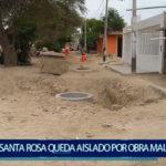 Piura:  Santa Rosa  queda aislado por obras mal ejecutadas