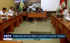 Nuevo Chimbote: Piden que jefa de obras sustente plan de trabajo