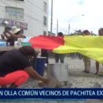 Piura: Con olla común vecinos de Pachitea exigen construcción de avenida Sullana
