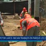 Inician trabajos en parque los Cocoteros