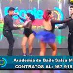 Academia de baile salsa madrid visitó el set de Pégate al Mediodía