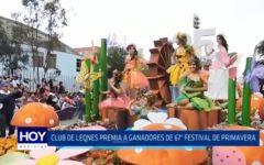Club de Leones premia a ganadores de la 67° edición del Festival de Primavera