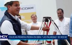 """Trujillo: Colocan primera piedra en obra """"Las Palmeras"""" de Moche"""