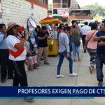Piura: Profesores exigen pagos de CTS