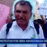 Piura: Protestan por obra abandonada