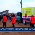 Chimbote: Puente bailey presenta grietas en su estructura