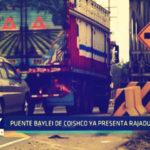 Coishco: Puente baylei  ya presenta rajaduras