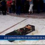 Chiclayo: JLO: queman féretro en segundo día de huelga