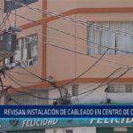 Chiclayo: Revisan instalación de cableado en centro de Chiclayo