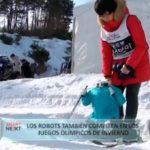 Los robots compiten en los Juegos Olimpicos de invierno