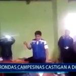 Piura: Ronda campesina castiga a docentes