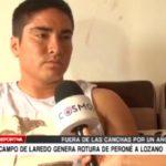 Campo de Laredo genera rotura de peroné a lozano