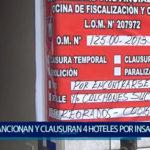 Piura: Sancionan y clausuran 4 hoteles insalubres en pleno centro de Piura