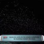 Show de luces en Juegos Olimpicos de invierno