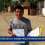 Piura: Vecinos de asentamiento Susana Higuchi anuncian movilización