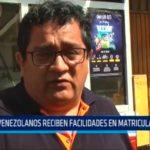 Venezolanos reciben facilidades en matricula escolar
