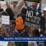 Venezuela: Pacientes protestan por escasez de medicamentos