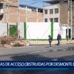 Piura: Vías de acceso obstruidas por desmonte y montículos de tierra