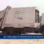 Chiclayo: 100 toneladas de basura no se recogen en JLO