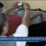 Chiclayo : Incineran colchones decomisados en operativo de hoteles