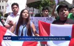 Chiclayo : Lavan bandera tras renuncia de PPK