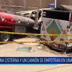 Chiclayo: Una cisterna y un camión se empotran en una vivienda