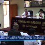 """Chiclayo: Cuestionan labor de fiscalía en caso """"Los sicarios del norte"""""""