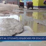 Chiclayo : Siete mil estudiantes son perjudicados por el colapso de desagües